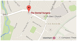 Where our Uxbridge dentist in Ickenham is on the map